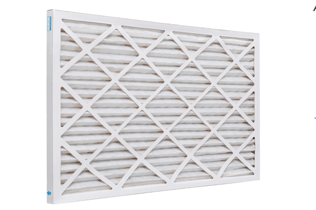 A picture of a pleated hvac air filter